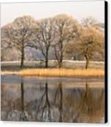 Cumbria, England Lake Scenic With Canvas Print