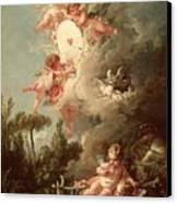 Cupids Target Canvas Print by Francois Boucher