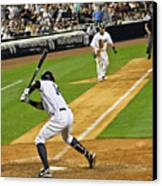 Curtis Granderson Canvas Print by Andrew  Cragin