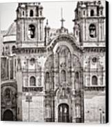 Cusco Cathedral Canvas Print by Darcy Michaelchuk