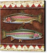 Cutthroat And Rainbow Trout Lodge Canvas Print by JQ Licensing