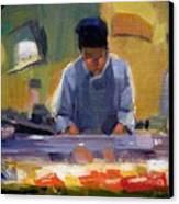 Cutting Sushi Canvas Print