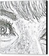 D D Eyes Canvas Print by Carol Wisniewski