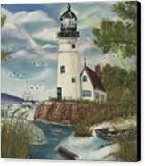 Dads Lighthouse Canvas Print