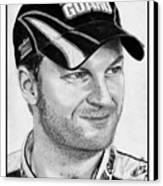 Dale Earnhardt Jr In 2009 Canvas Print by J McCombie