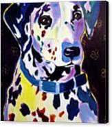 Dalmatian - Dottie Canvas Print by Alicia VanNoy Call