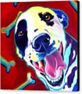 Dalmatian - Yum Canvas Print by Alicia VanNoy Call