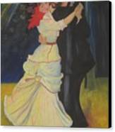 Dance At Bougival Canvas Print
