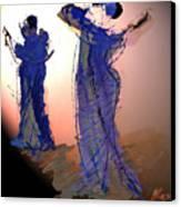 Dance In Purple Canvas Print