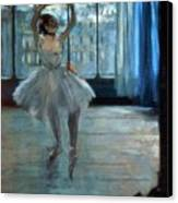 Dancer In Front Of A Window Canvas Print