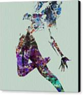 Dancer Watercolor Canvas Print by Naxart Studio