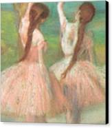 Dancers In Pink Canvas Print by Edgar Degas
