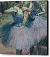 Dancers In Violet  Canvas Print