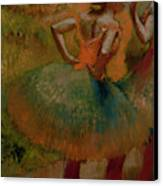 Dancers Wearing Green Skirts Canvas Print