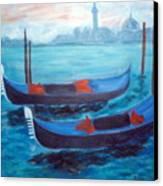 Dancing Gondolas Canvas Print
