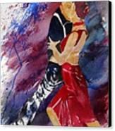 Dancing Tango Canvas Print