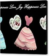 Dancing The Love Dance - Love Joy Happiness No. 3 Canvas Print by Jacqueline Migell