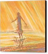 Dancing With Summer Rain Drops Canvas Print