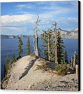 Dangerous Slope At Crater Lake Canvas Print