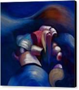 Dark Blue Canvas Print by Fanny Diaz