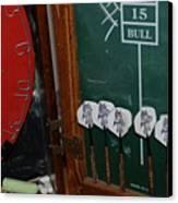 Darts And Board Canvas Print
