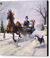 Dashing Through The Snow  II Canvas Print by Jeanne Newton Schoborg