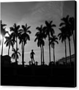David With Palms Canvas Print
