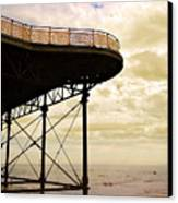 Dawn At Colwyn Bay Victoria Pier Conwy North Wales Uk  Canvas Print