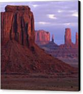 Dawn At Monument Valley Canvas Print by Sandra Bronstein