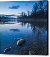 Dawn At River Canvas Print by Davorin Mance