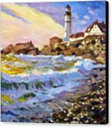 Dawn Breaks Cape Elizabeth Plein Air Canvas Print