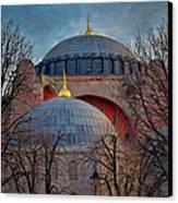 Dawn Over Hagia Sophia Canvas Print by Joan Carroll