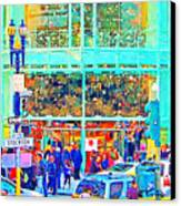 Day Before Christmas At Neiman Marcus . Photoart Canvas Print
