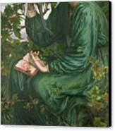 Day Dream Canvas Print by Dante Charles Gabriel Rossetti