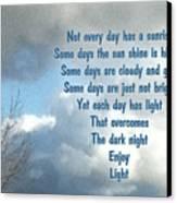 Day Light Canvas Print by Leona Atkinson