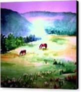 Daybreak And Clover Canvas Print