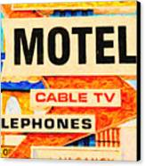 Deanos Motel Canvas Print by Wingsdomain Art and Photography