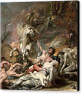 Death On The Pale Horse Canvas Print by Benjamin West