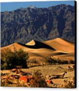 Death Valley's Mesquite Flat Sand Dunes Canvas Print by Christine Till