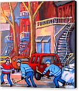 Debullion Street Hockey Stars Canvas Print by Carole Spandau