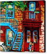 Debullion Street Neighbors Canvas Print