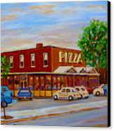 Decarie  Tasty  Food  Pizza Canvas Print