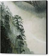 Deception Pass Fog Canvas Print by Perry Woodfin