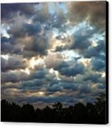 Deceptive Clouds Canvas Print by Cricket Hackmann