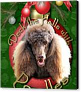 Deck The Halls With Poodles Canvas Print by Renae Laughner