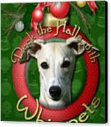 Deck The Halls With Whippets Canvas Print by Renae Laughner