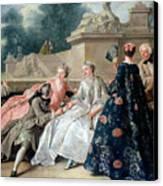 Declaration Of Love Canvas Print by Jean Francois de Troy
