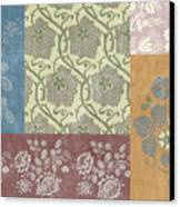 Deco Flower Patchwork 2 Canvas Print by JQ Licensing