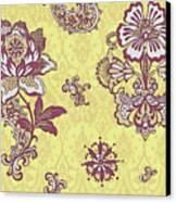 Deco Flower Yellow Canvas Print