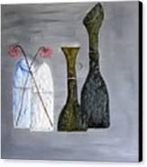 Decor Cut Bottles Canvas Print by Leslye Miller